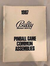 1987 Bally Midway Pinball Game Common Assemblies Manual