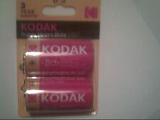 D batteries kodak 2 pack zinc