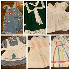 Vtg Baby Girls Clothes Nwt Dresses Smocked Pinafore Overalls 24 Mo 2T Mo A23