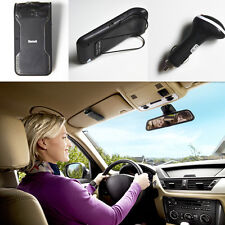 Car Hands free Wireless Bluetooth Phone Speaker Sun Visor Clip Mobile For Iphone