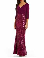 NWT Adrianna Papell Evening Gown 8 LACE ILLUSION SEQUIN Fall MOTHER BRIDE NEW