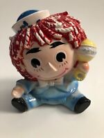 VTG Vase Planters 60s RELPO 6465 Raggedy Ann Andy Doll Baby Tags, Signed