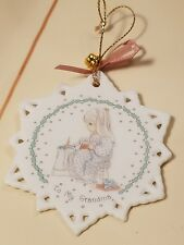1991 Precious Moments To My Grandma White Porcelain Snowflake Ornament