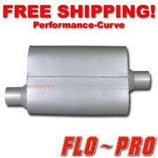 """2 Chamber Performance Exhaust Street Muffler FLO-PRO Super V 2.25"""" O/C - V42441"""