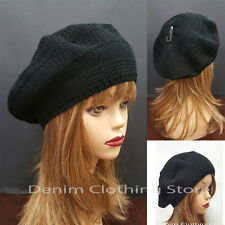 Women's Fall Spring Winter Crochet Knit Slouchy Beanie Beret Cap Hat One Size