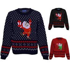 Filles Festive Noël Neige Santa Enfants Aztèque Pull Sweater Tricot
