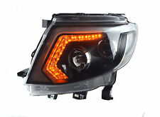 CCFL Front Head Lamp Lights Led Black Fit Ford Ranger T6 Wildtrak UTE 2012-2015