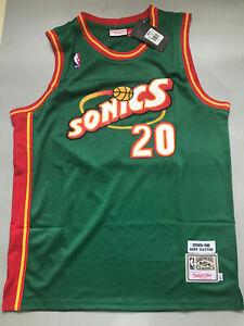 New Gary Payton Seattle Supersonics Throwback Swingman Jersey Green Size S-XXL