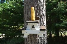 Large Squirrel, Chipmunk, Doll Picnic Table Feeder, Seed feeder, picnic table