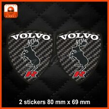0073 Sticker VOLVO R aufkleber adesivi carbone decal S40 V40 XC40 XC60 S60 V60