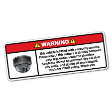 Warning This Vehicle Security Camera Sticker Decal Safety Sign Car Vinyl