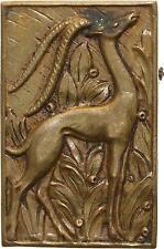 M853 Rare Plaque uniface Antilope Savane Afrique Colonues -> Faire offre