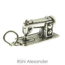 925 Sterling Silver Sewing Machine Charm Made in USA