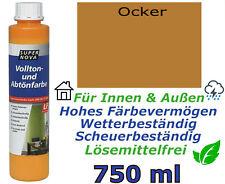 750 ml SUPER NOVA® Vollton- & Abtönfarbe OCKER matt Innen & Außen Volltonfarbe