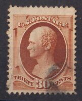 USA Stamps Collection Scott#217 30c Hamilton Used CV$100 C006