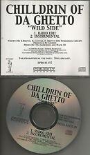 CHILLDRIN OF DA GHETTO Wild Side INSTRUMENTAL & EDIT PROMO CD Single Children