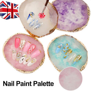 Marble Nail Art Palette Finger Plate Display Resin Mixing Painting Nail Art Tool