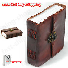 HANDMADE Retro Leather Diary Planner Vintage Notebook POCKET JOURNAL Clasp Lock