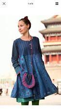 Gudrun sjoden bellissimo abito di cotone Bess XL (difetti sui punti di sutura)