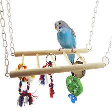 Pet Bird Parrot Parakeet Budgie Cage Hamster Hammock Swing Hanging Ladder Toy