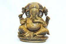 Natural brown tiger's eye Stone God Ganesha Home Decorative Statue figure