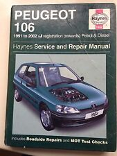PEUGEOT 106 1991-2002 All Models Incl.Diesel  J.H. Haynes Manual