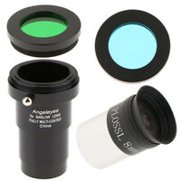 "1.25""/31.7mm Plossl Eyepiece 8mm+Astronomy Telescope 5X Barlow Lens+Filters"