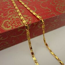 New Arrived Fashion Modern Stylish Yellow GOLD Plating Rolo CHAIN NECKLACE CN