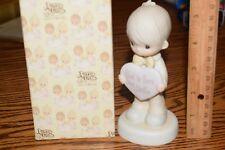 Precious Moments Figurine God is Love Dear Valentine 1981 Enesco E-7154