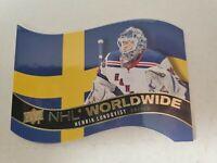 HENRIK LUNDQVIST 2020-21 UPPER DECK SERIES 1 NHL WORLDWIDE DIE-CUT INSERT