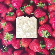 Natural Soap Bar Strawberry Handmade Organic Shea Butter Coconut Jojoba Beads