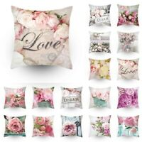 Cushion Cover Throw Pillow Case Decor Flower Colorful Sofa Pillowcase US