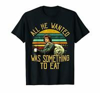 John James Rambo All He Wanted Was Something To Eat Vintage Black T-Shirt