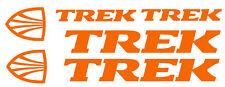 6 pegatinas de vinilo Naranja fluorescente TREK  para bicicleta,  no 585
