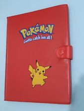 More details for vintage 1999 red pikachu pokemon card folder / binder very good condition