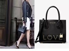 NWT Michael Kors  Mercer Medium Messenger/ Black LOVE