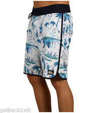 "NEW* QUIKSILVER MEN'S 38 BOARDSHORTS SHORTS SWIMSUIT 20"" Wilderness $62 White"