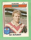 1980 EASTERN SUBURBS ROOSTERS SCANLENS RUGBY LEAGUE CARD #31 IAN SCHUBERT