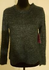 Medium Rampage Eyelash Knit Scoop Neck Metallic Bland Sweater ~ NWT