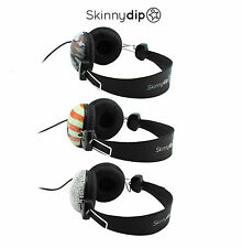 Skinnydip Base Headphones Earphones Over Ear Adjustable Headband - American Flag