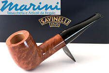 Pipa Pipe pfeife Savinelli Spring mod.101 radica lucida dritta made in italy