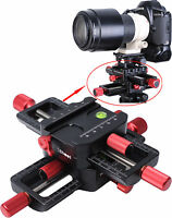 4-way Macro Focusing Rail Slider Close-up Shooting Camera Holder for Tripod Head