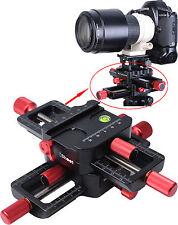 4-Wege Makro Kreuzschlitten Nahaufnahmen kameraschiene für Stativ Stativkopf