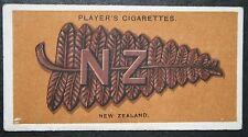New Zealand  Expeditionary Force  Slouch Hat  Badge World War 1  Vintage Card