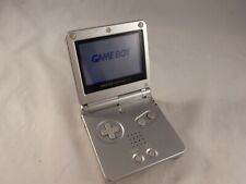 Nintendo Game Boy Advance SP Platinum Silver System AGS-001 (TESTED!) #S147