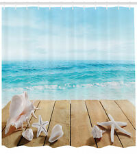 Beach Shower Curtain Sunshine Maldives Deck Print for Bathroom