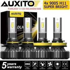 AUXITO Super Bright H11 H8 + 9005 LED Headlight Bulb 40000LM White High Low Beam