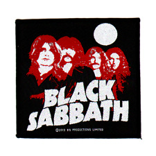BLACK Sabbath OFFICIAL Woven Patch Red Portraits intrecciate ricamate Ozzy Osbourne
