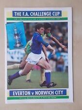 EVERTON v NORWICH CITY - FA CUP SEMI FINAL - PROGRAMME 1989