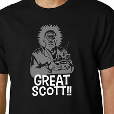 Great Scott!! t-shirt BACK TO THE FUTURE DOC EMMETT BROWN MARTY MCFLY FILM FUNNY